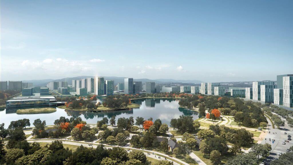Rendering of New Clark City