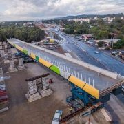 The bridge in Darlington Adelaide was constructed offsite and transported down the highway and fitted into place1