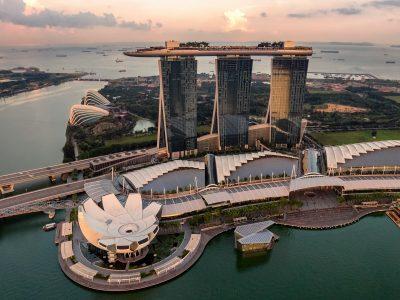 Marina Bay area by Hu Chen