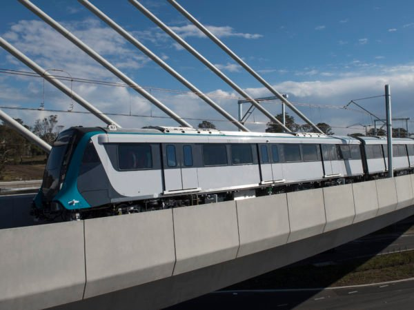 Sydney Metro train testing Windsor Rd bridge July 2018 01 hires scaled