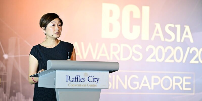 Ivy Koh Director SJ architecture giving a speech at BCI Asia scaled