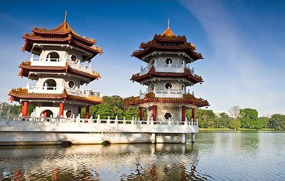 Jurong Lake Park, Chinese Garden, Japanese Garden & Jurong Hill