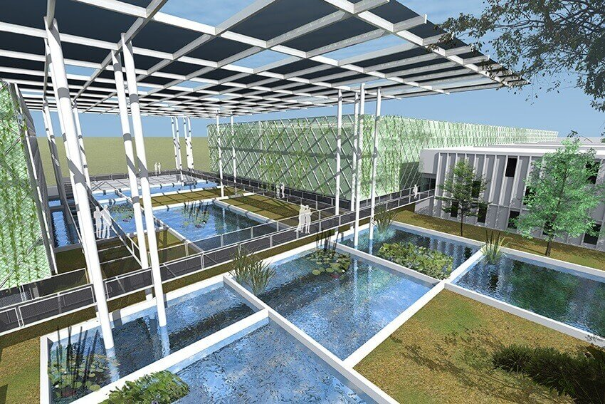 Surbana jurong 39 s floating ponds wins wafx prize in the for Floating fish pond