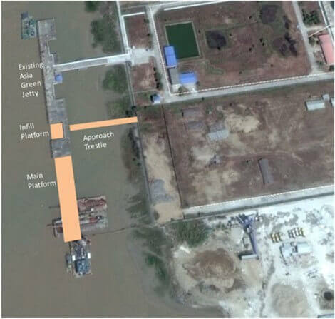 jetty design project in thilawa