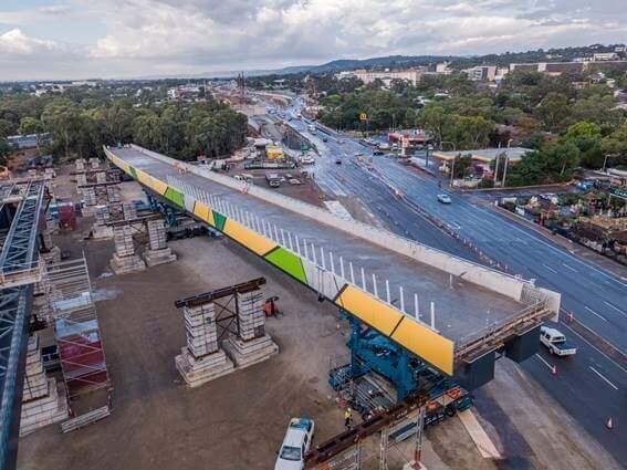 civil engineering achievement Darlington bridge Australia