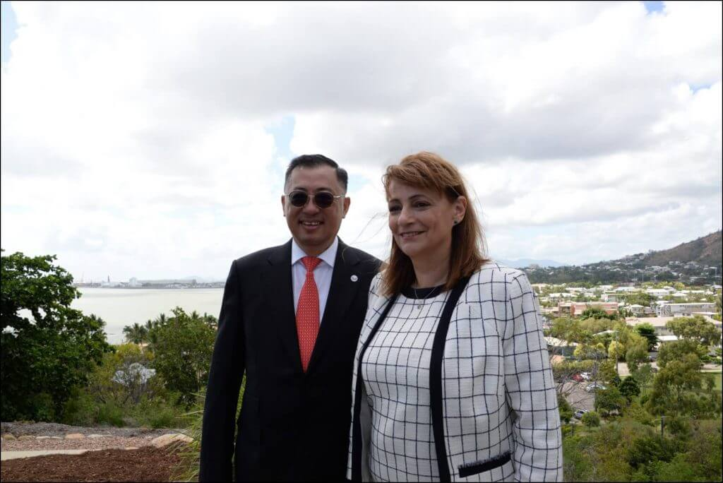 Mr Wong Heang Fine, Group CEO of Surbana Jurong with Cr Jenny Hill, Mayor of City of Townsville