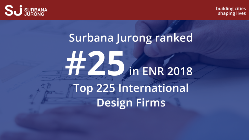 Surbana jurong is 25 on enr top 225 international design for Top international architecture firms