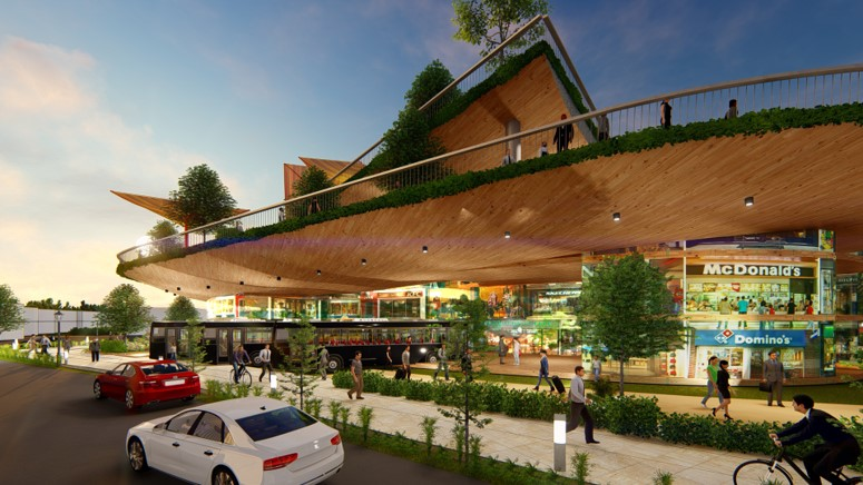 India Pimpri Chinchwad bus stand concept view
