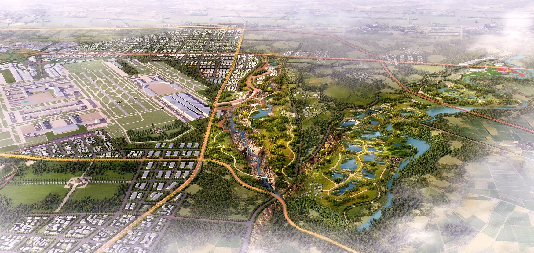 Eco-Landscape Planning of Xixian Airport City, Xi'an