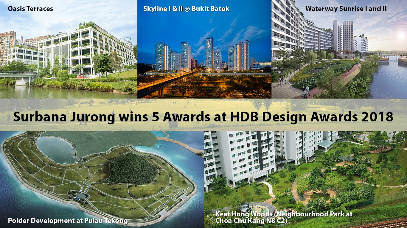 Surbana Jurong wins 5 HDB awards at HDB Design Awards 2018