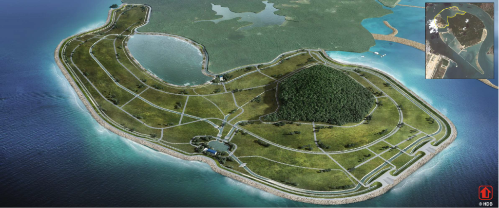 Polder Development at Pulau Tekong