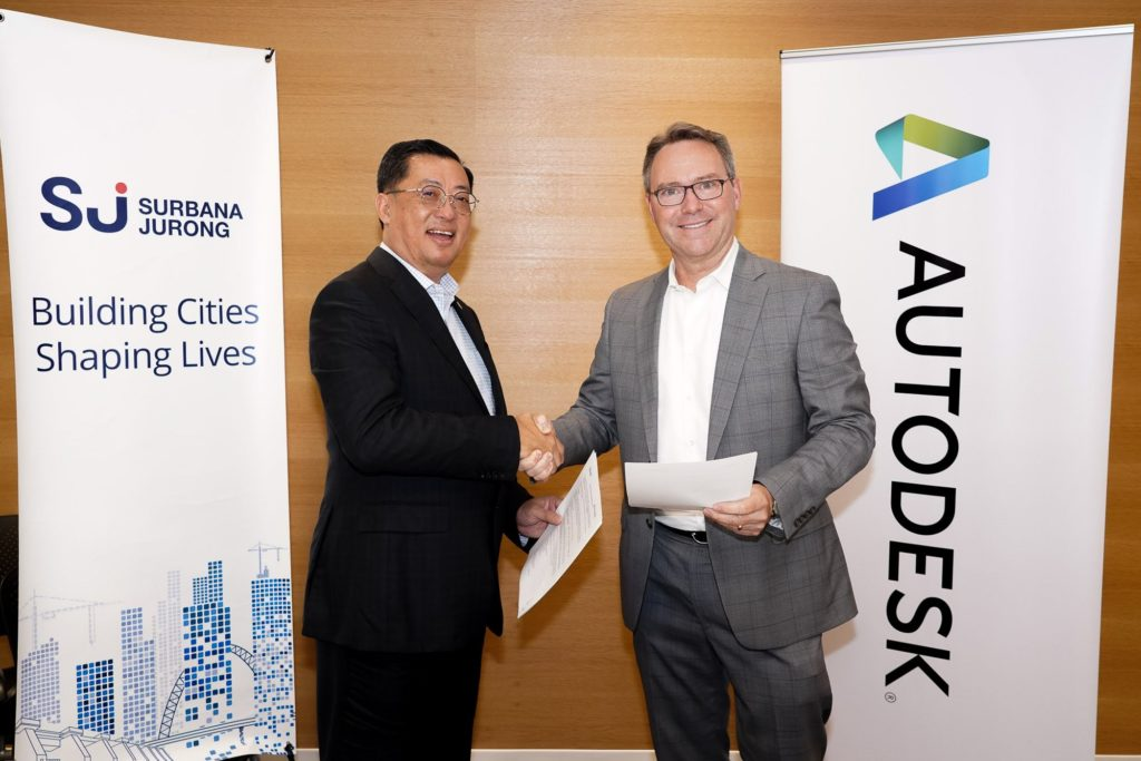 Surbana Jurong MOU with Autodesk to advance technology adoption and digital transformation