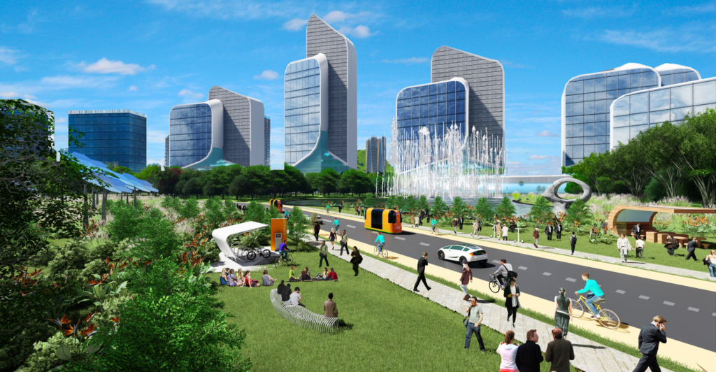 Artist impression of Maharashtra Orange Smart City