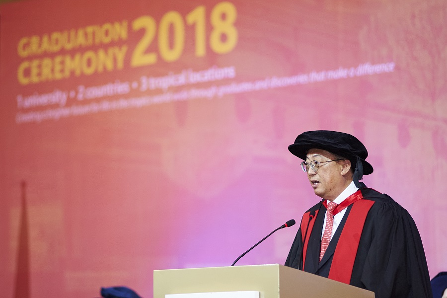 SJ GCEO Wong Heang Fine at James Cook graduation ceremony 2018 speech