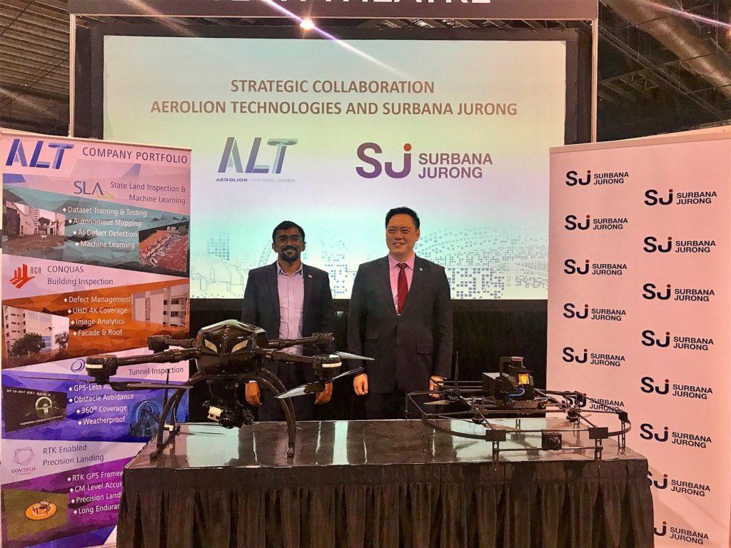 UAV technology SJ Aerolion technologies mou surbana jurong